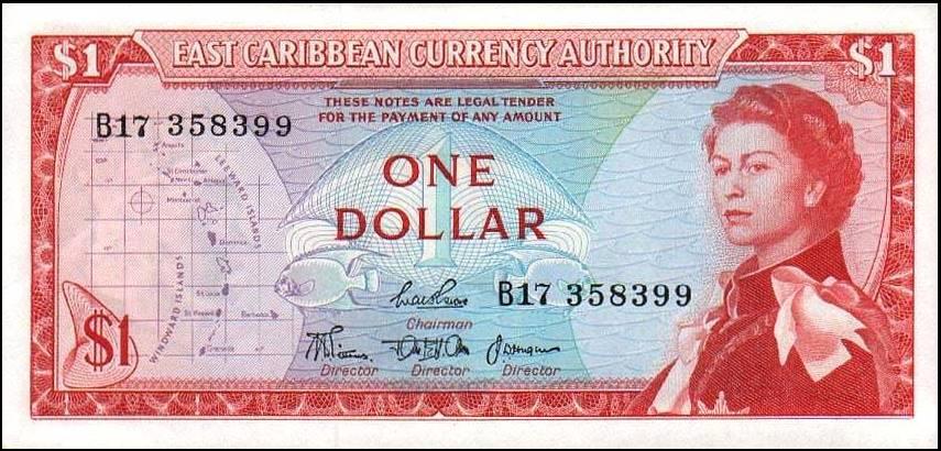 P 13b 1 Dollar Nd 1965