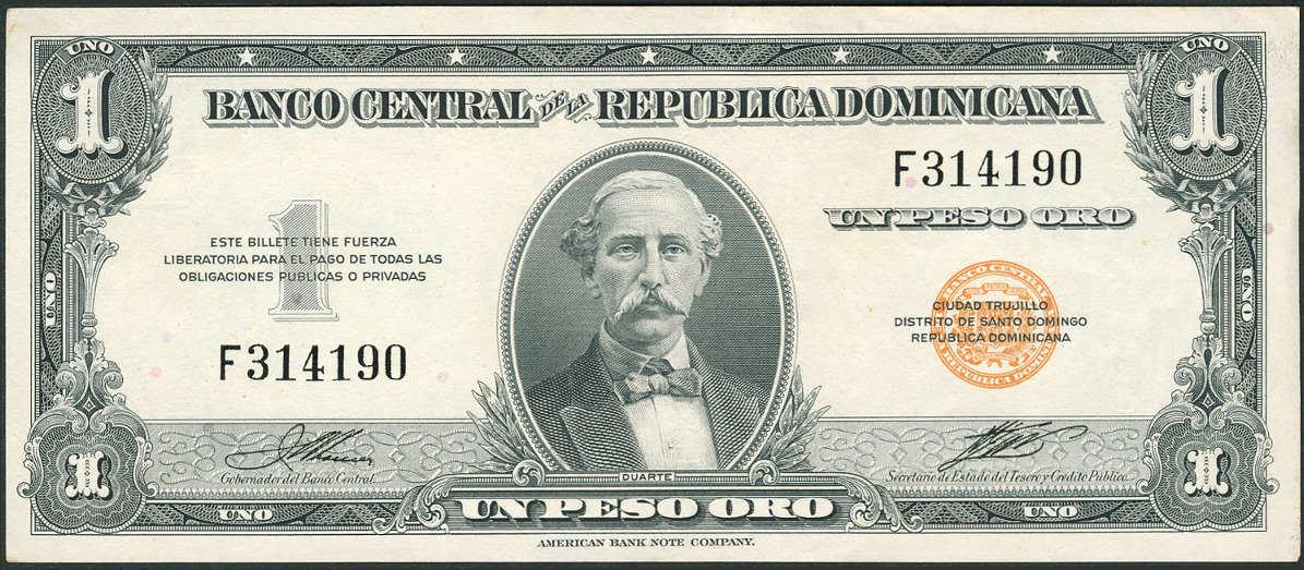 P 60a 1 Peso Oro Nd 1947 55