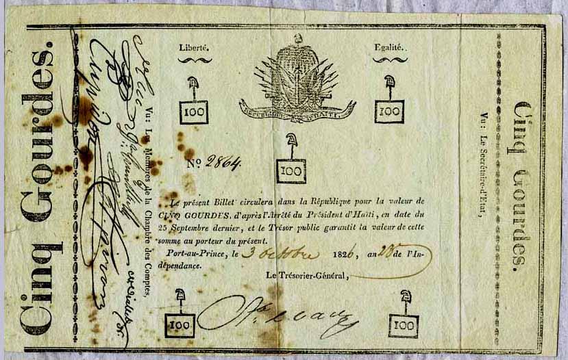 Haiti Paper Money