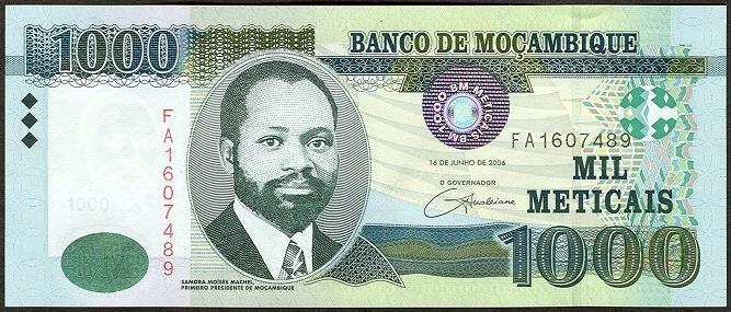 Mozambique Paper Money 1877 Present