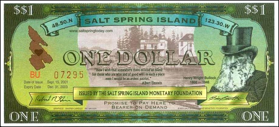 2008 Two Dollar UNC Canada Salt Spring Island