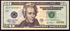 Usa P.New  20 Dollars 2004EC07869595AC3 H1 H2